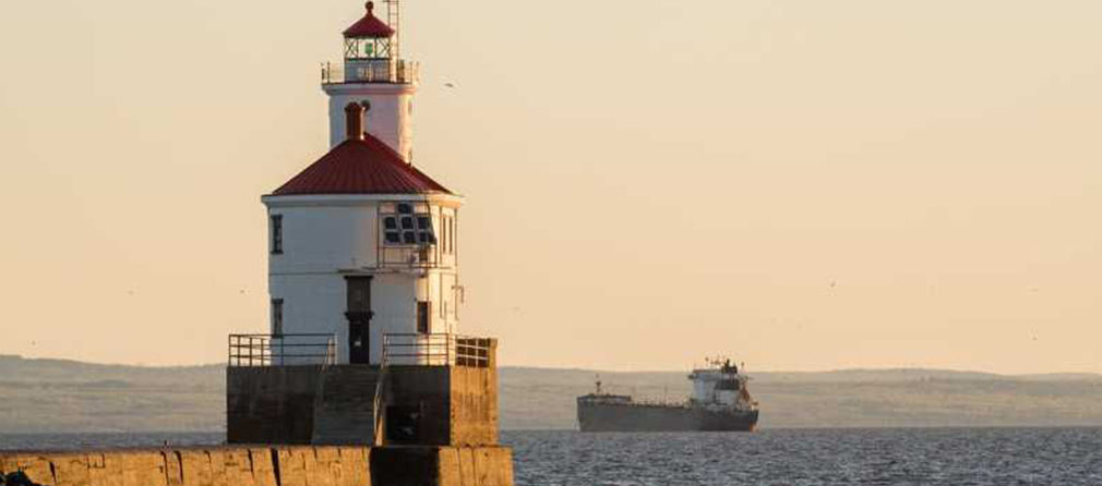 Wisconsin Point in Superior by Bob Jauch